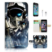 ( For iPhone 7 ) Wallet Case Cover P1756 Bio Soldier