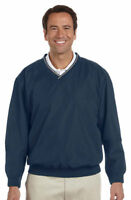 Devon & Jones Men's New Two Onseam Side Pockets V Neck Winter Wind Shirt. D950