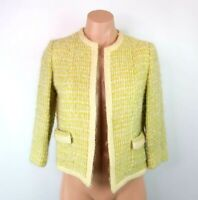 Vintage Top Drawer S/M Mohair Wool Tweed Blazer jacket Woven ILGWU UNION 60s