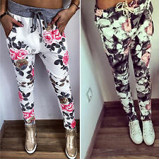 femmes Décontracté Imprimé Floral Pantalon Fitness Leggings extensible 6-14