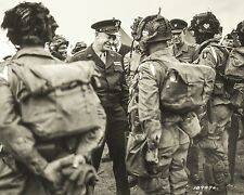 General Eisenhower meets with paratroopers before D-Day invasion New 8x10 Photo