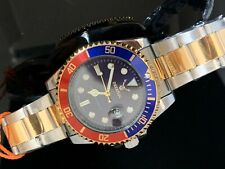 UK Submarine Diver Style Watch Date Rotating Bezel Watch Quartz movement 40mm