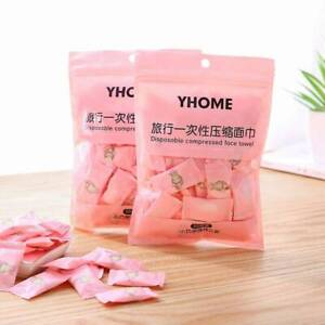 50x Disposable Non-woven Fabric Compressed Towel Face Cleaning Cloth Travel Set