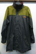 Vtg 1980's Snowboard Swag Jacket Green Gray Celtech Fabric Hooded EUC Sz XL