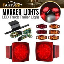 Submersible Truck Trailer SQ LED Light kit,Stop Turn Tail,Marker,Bracket&Harness