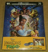 New Disney The Princess & the Frog 4K UHD + Blu-ray/Digital Steelbook™ Bestbuy