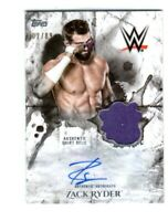 WWE Zack Ryder 2018 Topps Undisputed Autograph Relic Card SN 2 of 89