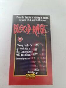 Blood Rage, rare horror VHS, 18 Cert