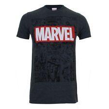 Marvel Men's Mono Comic T-shirt - Dark Heather XL Grey