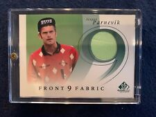 2002 SP Game Used Golf Front 9 Fabric F9S-JP Jesper Parnevik in Case