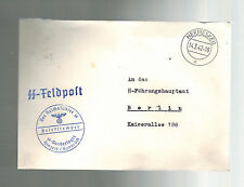 1942 Germany Hinzert Hermeskeil Concentration Camp KZ Guard Cover SS Feldpost