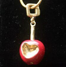 LOUIS VUITTON Pomme d'Amour 18K Enamel Bag Charm