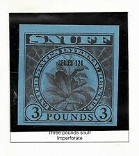 HICK GIRL-BEAUTIFUL MINT U.S. REVENUE STAMP 1954  3 LB. SNUFF  SERIES 124  B