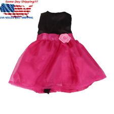 Handmade Rose Red Party Dress Clothes For 18'' American Girl Baby Reborn Doll US
