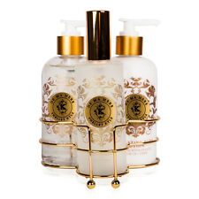 Shelley Kyle De Ma Mere Three piece caddy with Lotion, Liquid Hand Soap and Room