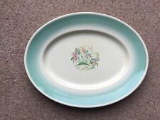 "SUSIE COOPER GREEN DRESDEN SPRAY MEAT PLATE, 16"" Oval Platter"