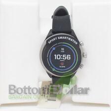 Fossil FTW6024 Sport Touchscreen Smartwatch Silicone Strap Black/Smoke