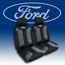 OFFICIAL FORD BLACK AND BLUE FRONT UNIVERSAL CAR SEAT COVERS EMBROIDERED LOGO