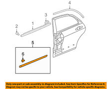 HONDA OEM 2007 Accord REAR DOOR-Body Side Molding Right 75303SDAA11ZS