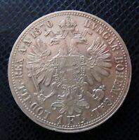 AUSTRIA / SILVER 1 FLORIN / 1870 A / Extra!