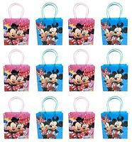 12PCS Disney Mickey and Minnie Mouse Goodie Party Favor Gift Birthday Loot Bags