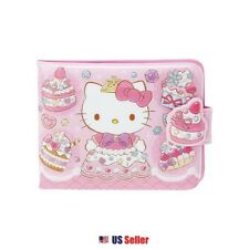 Sanrio Hello Kitty Vinyl Wallet Card Coin Case Pouch : Sweet Princess Kitty