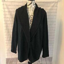 PureJill J. Jill shawl collar jacket cardigan sweater black dark gray size small