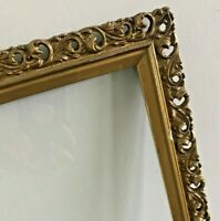 Antique Ornate Wood Carved Frame Victorian SHABBY Gilted Gold Baroque 20 x 29