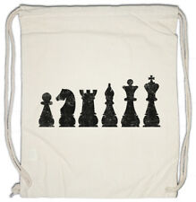 Chess I Drawstring Bag Checkmated King Queen Rook Bishop Knight Pawn Tournament