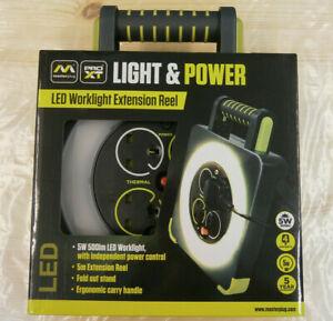 Masterplug Pro-XT Four Socket LED Work Light Extension Reel / Lead