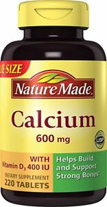 Nature Made 600 mg Calcium + D3 Tablets 220 Ct (9 Pack)