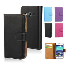 Colorful Genuine Real Leather Wallet Case for Samsung Galaxy ACE 4