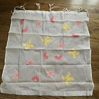 """Pottery Barn Kids Voile Floral Flowers Curtain 43""""x41"""""""