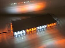 "NEW 40 LED Amber Clear White Emergency Plow Tow Truck 22"" Strobe Light Bar Roof"