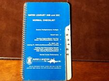 Gates Learjet 25B and 25C Normal & Emergency Checklist