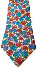 Andhurst Flower Tie 100% Silk Classic Width Length Necktie Neckwear Floral