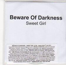 (ED844) Beware Of Darkness, Sweet Girl - 2013 DJ CD