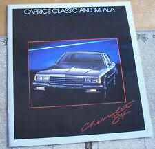 1984 Chevrolet Impala Caprice Dealers Brochure Catalog