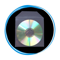 100 Premium Clear Plastic Sleeves CPP with Flap for CD DVD R Discs 100 Microns