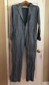 Vtg. Herringbone coveralls Blue Mechanic  jumpsuit USA 44 ( See Measurements)
