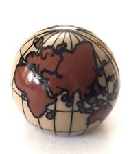 LEGO GLOBE ~Minifigure Minifig Earth Planet Dark Tan Cylinder Hemisphere Map NEW