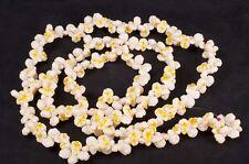 Vtg 8 Foot Christmas Butter Popcorn Plastic Blow Mold Tree Garland String