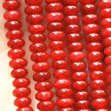 Fine! 2x4mm Red Ruby Abacus Loose Beads Gemstone 15""