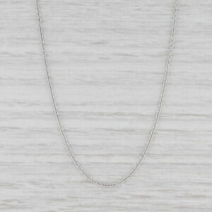 """New Round Cable Chain Necklace 950 Platinum 20"""" 1.3mm Lobster Clasp"""