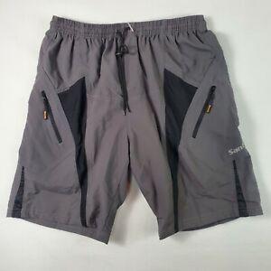 Santic Men's Sz XL Bike Cycling Loose Shorts  Gray/Black Padded Breathable