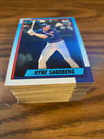 (90) 1990 Topps #210 Ryne Sandberg Chicago Cubs NM-MT+ Lot