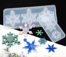 Snowflake Silicone Pendant Mold Making Jewelry Resin Necklace Mould Craft DIY 3D