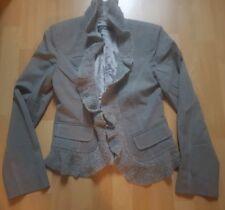 Marc Cain Damenjacke Jacket Blazer Weste Tweed Cardigan Grau N1 Gr.34 Wie Neu!