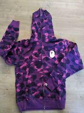 BAPE Color Camo Full Zip Hoodie Purple XXL