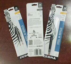 6 Gel Ink Refills for Zebra G-301 Gel Stainless Steel Pens Black Brand New (3x2)